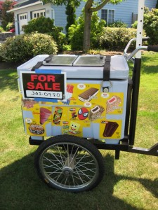 Ice Cream Cart for Sale photo by M. Sharon Baker