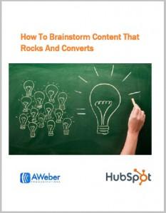 Hubspot's Content Brainstorm ebook